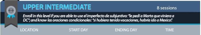 upper intermediate spanish lessons